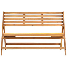 Banc pliant Luca en finition Brun Naturel