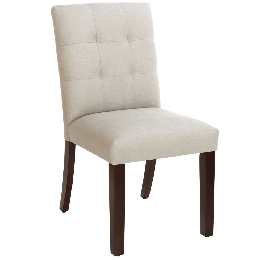 Dining Chair In Linen Talc