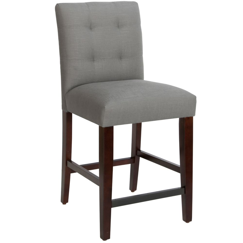 Counter Stool In Linen Grey