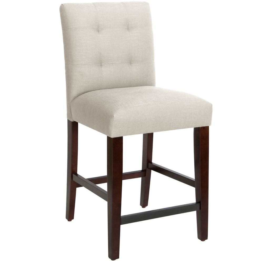 Counter Stool In Linen Talc
