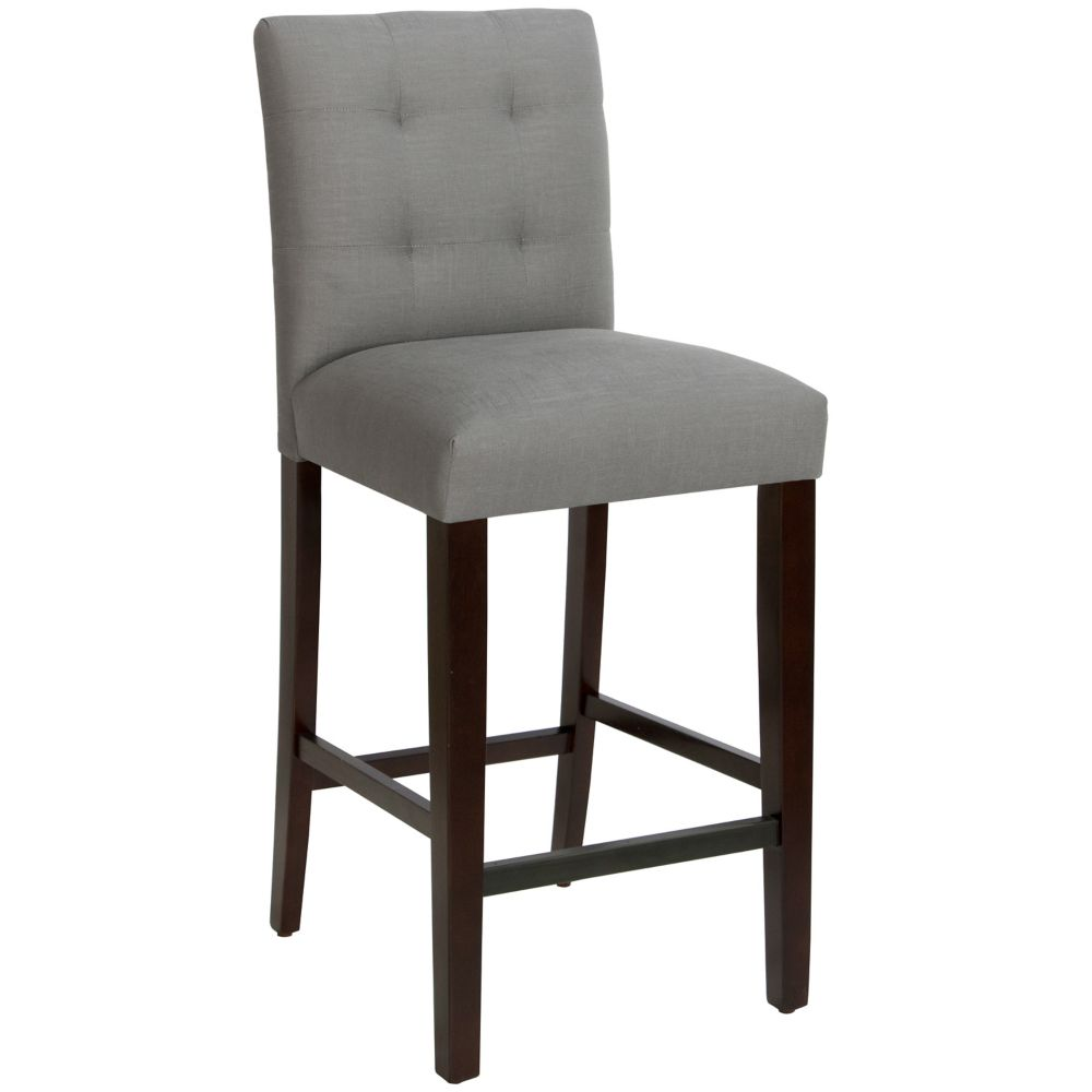 Bar Stool In Linen Grey