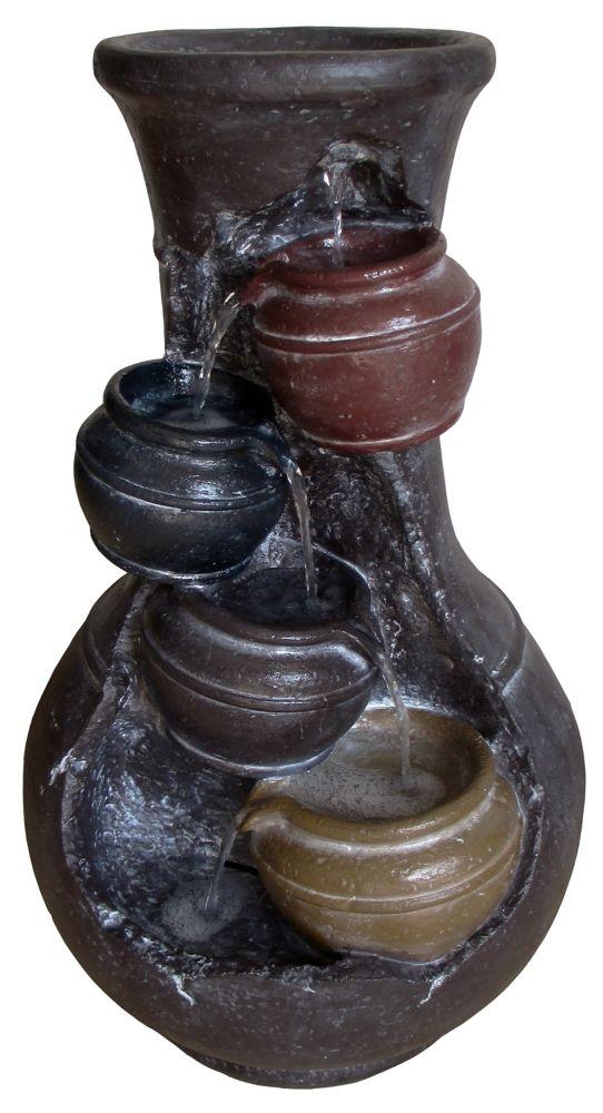 Fontaine pots équilibrés