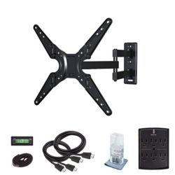 Commercial Electric Full motion TV wall mount Kit for 26-55in TVs