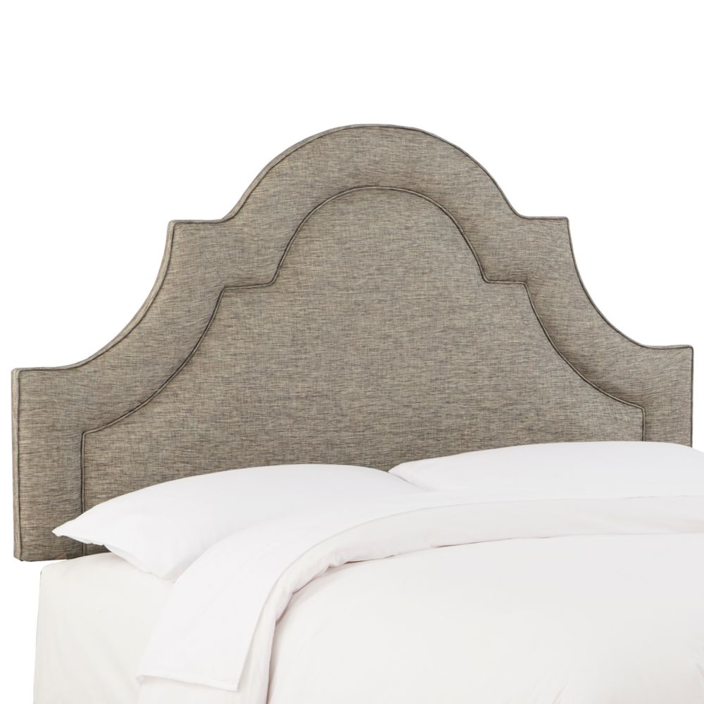 Queen Arched Border Headboard In Groupie Peppercorn
