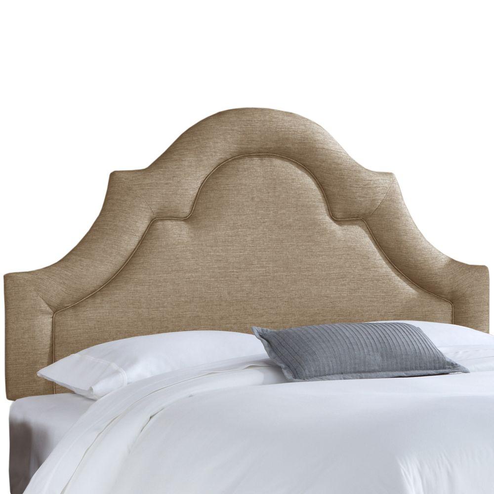 Tête de lit rembourrée roi en groupie gunmetal