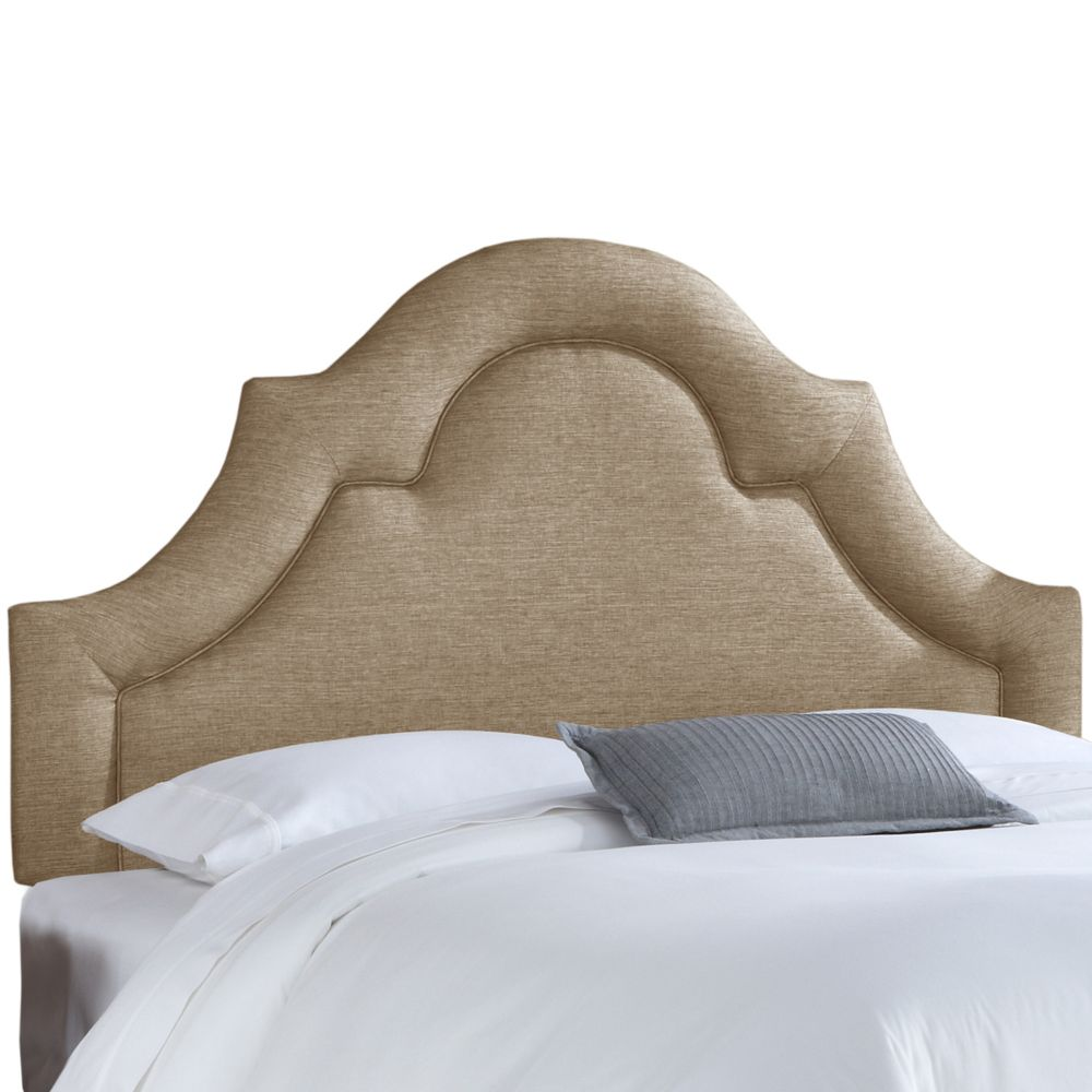 Tête de lit rembourrée california en groupie gunmetal