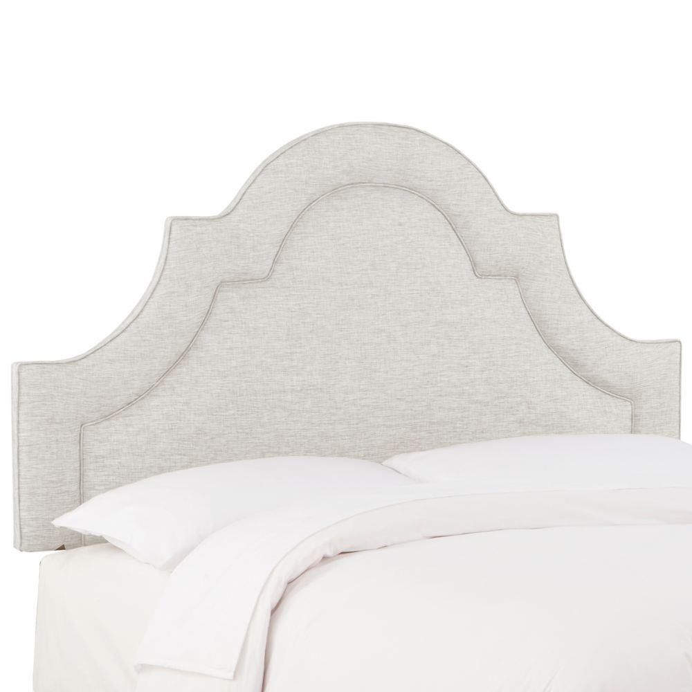 California King Arched Border Headboard In Groupie Oyster