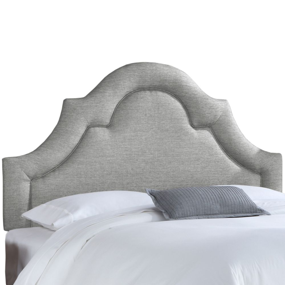 California King Arched Border Headboard In Groupie Pewter