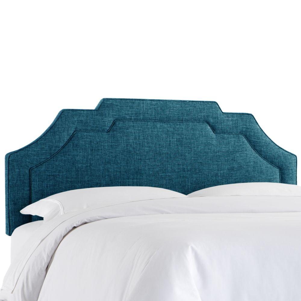 Tête de lit rembourrée jumeau en zuma marine