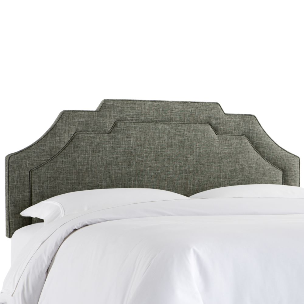 King Notched Border Headboard In Zuma Charcoal