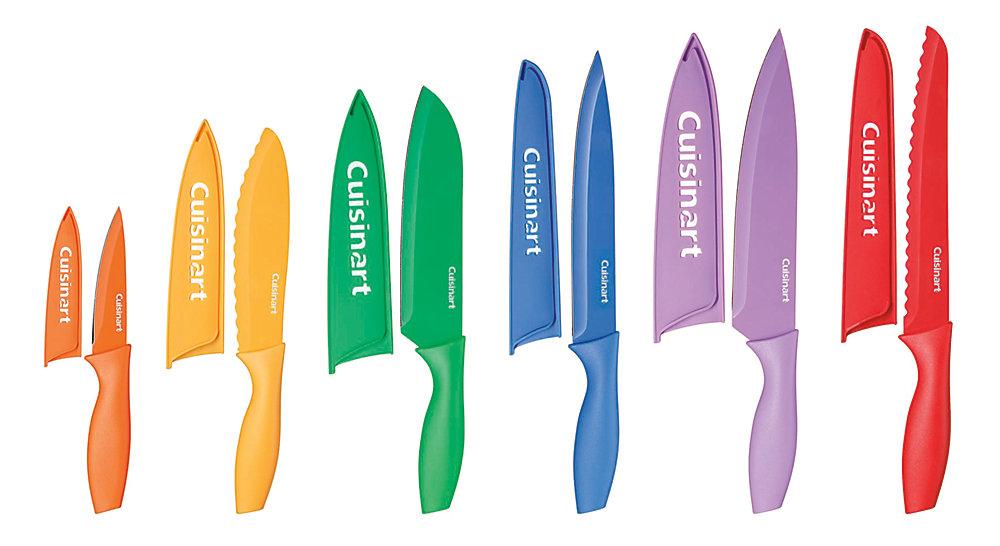 Jeu de 12 couteaux de couleur