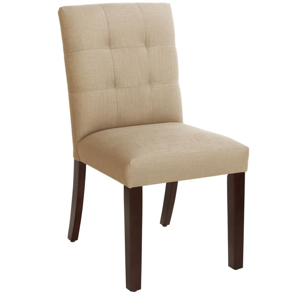 Dining Chair In Linen Sandstone