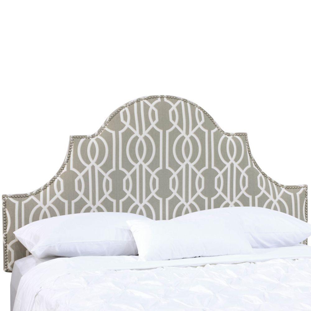 Tête de lit rembourrée jumeau en deco slate