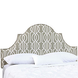 Skyline Furniture Queen Nail Button High Arch Notched Headboard In Deco Slate