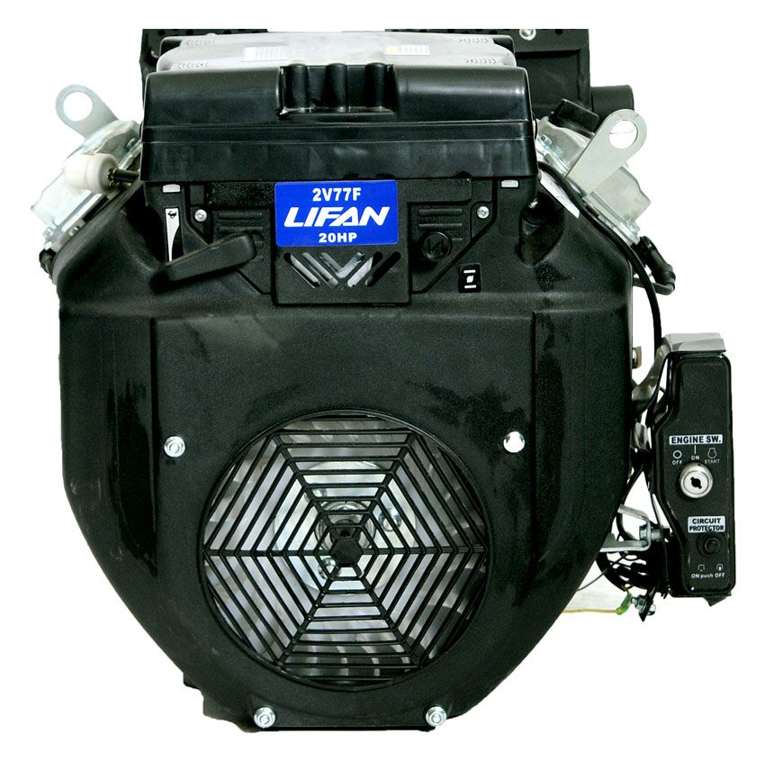 LIFAN 24 HP V-Twin Electric Start 1-inch Keyway Output Shaft Engine with 6 amp Charging System