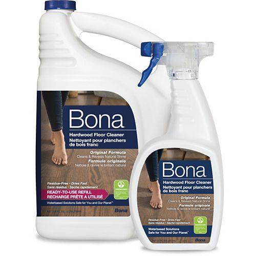 Bona Hardwood Floor Cleaner Refill with Free Cleaner, 651ml