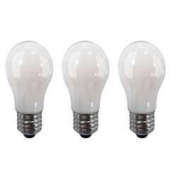 Ecosmart 60W Equivalent Soft White (2700K) A15 Dimmable LED Light Bulb with Frosted Glass Filament (3-Pack)