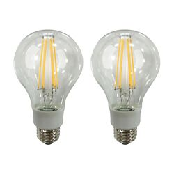 Ecosmart 100W Equivalent Soft White (2700K) A21 Dimmable LED Light Bulb with Classic Glass Filament (2-Pack)