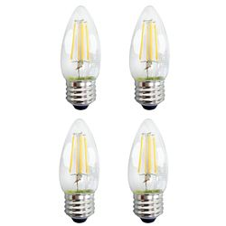 Ecosmart C35 Classic Glass Filament 40w 470 Lumens Dimmable Soft White (4-Pack) - ENERGY STAR