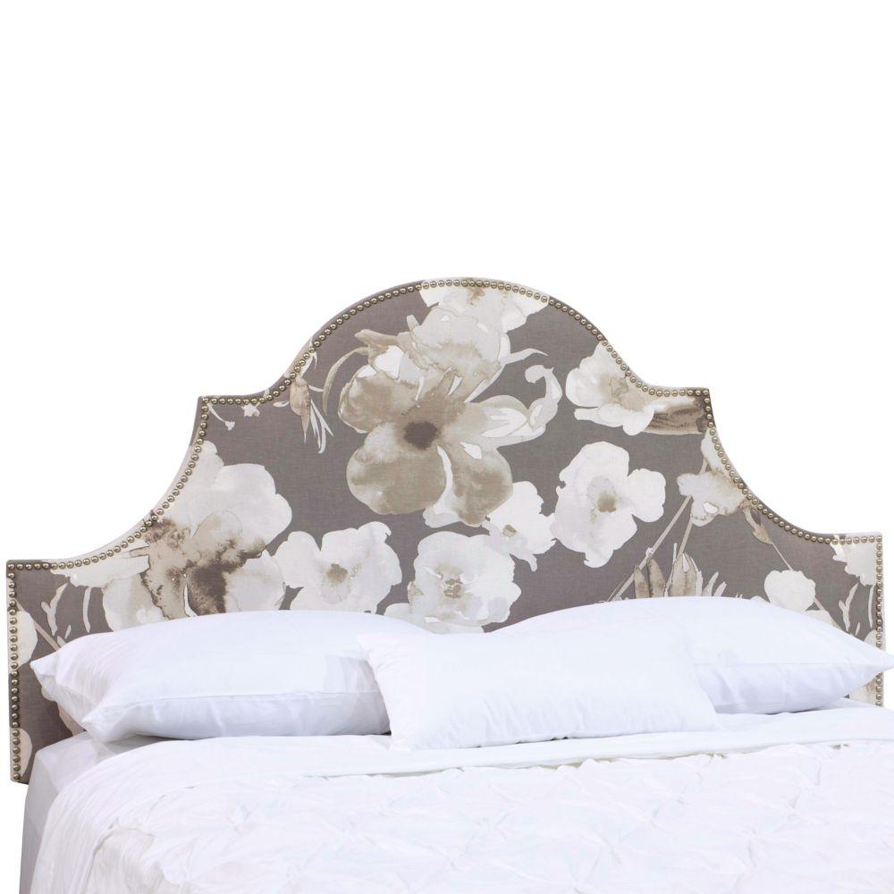 Tête de lit rembourrée roi en adagio driftwood