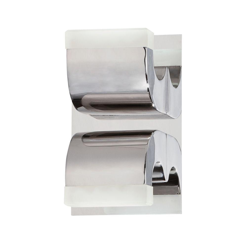 Collection Newport, barre déclairage de salle de bains chrome à 2ampoules DEL