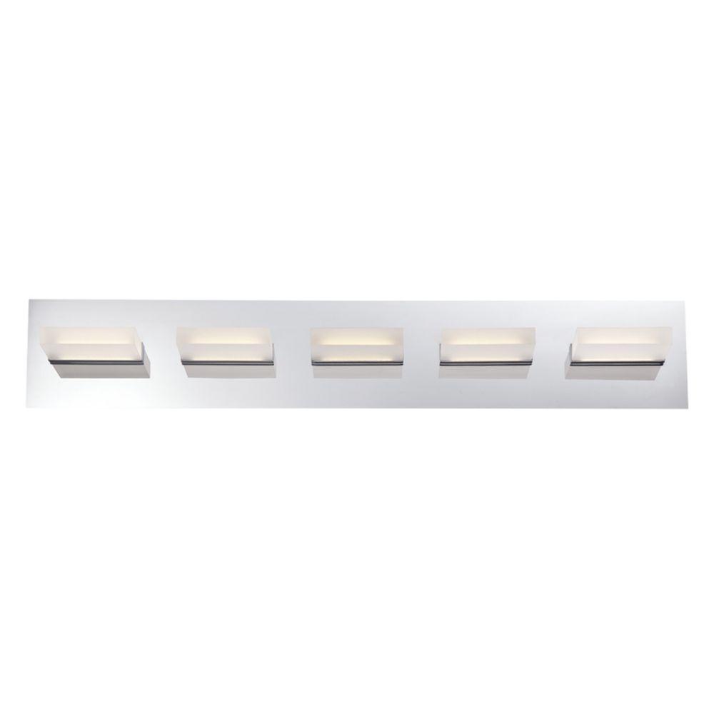Olson Collection, 5-Light LED Chrome Bathbar