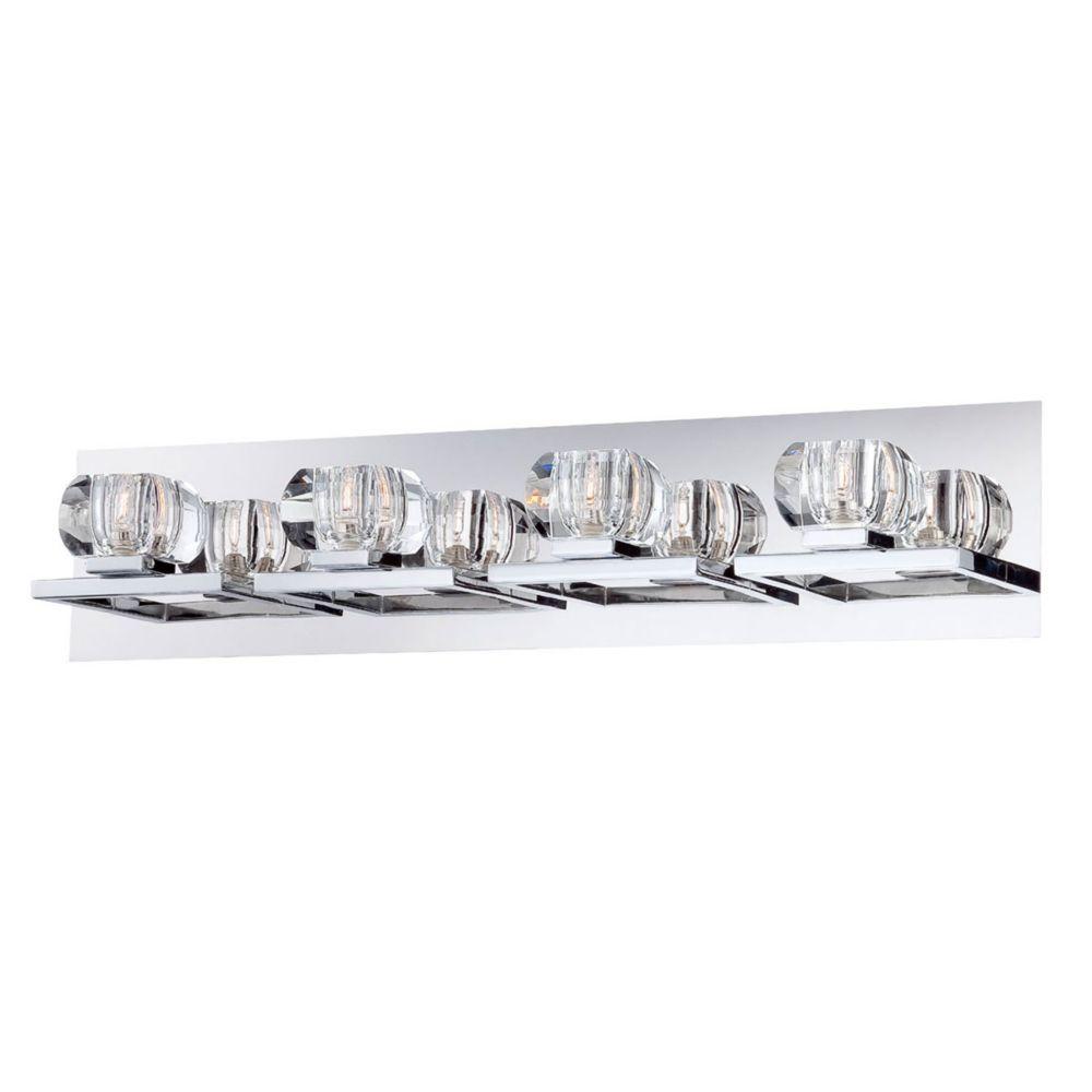 Casa Collection, 4-Light Chrome and Clear Bathbar