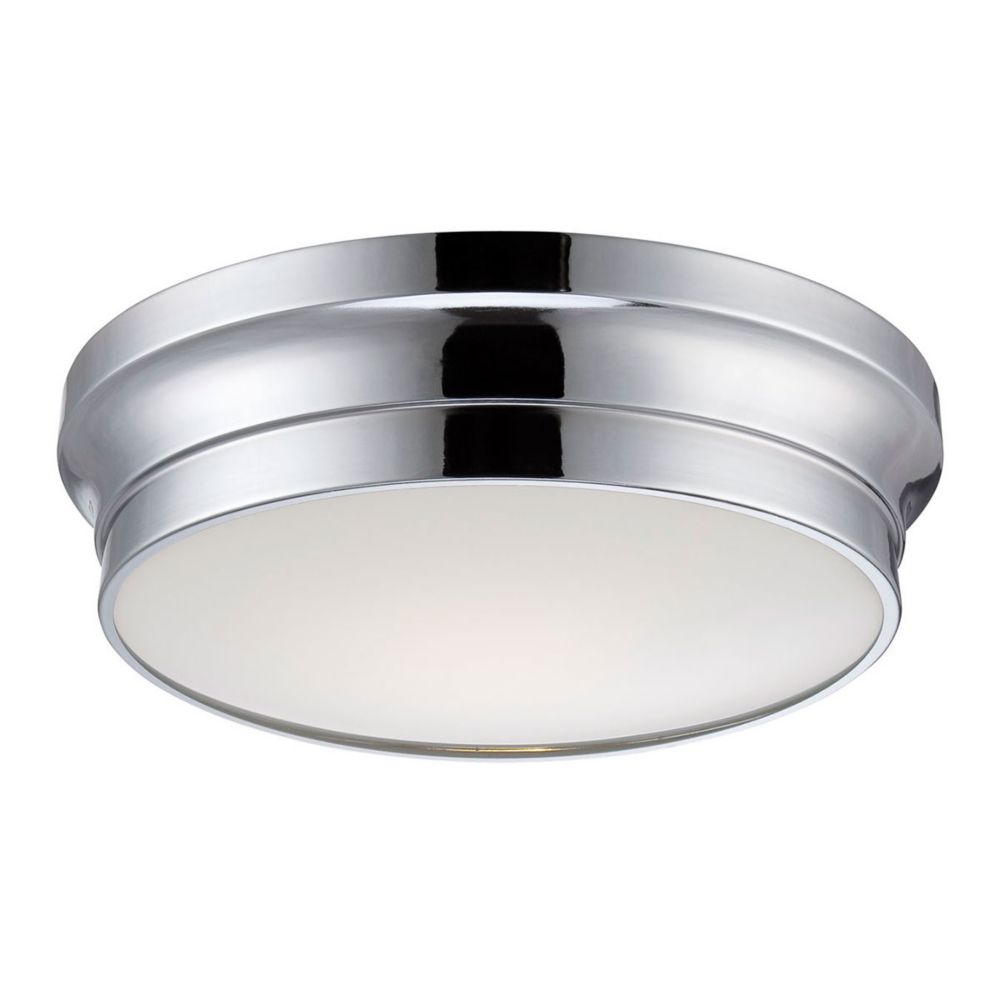 Jane Collection, 1-Light LED Chrome Flushmount