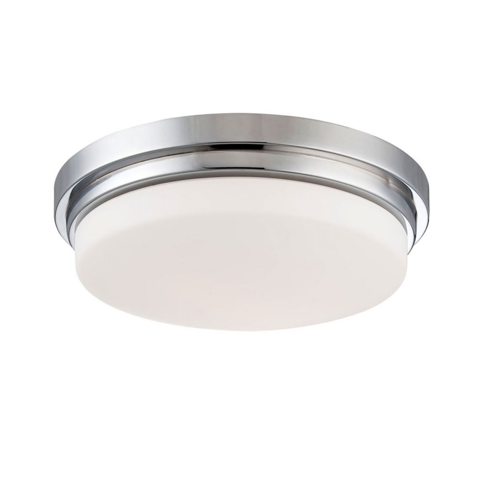 Wilson Collection, 1-Light Chrome LED Flushmount