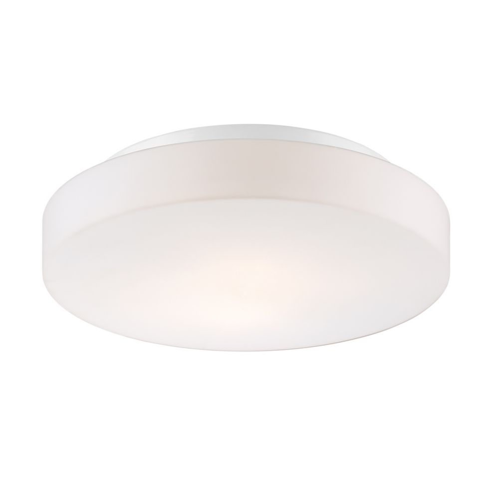 Ramata Collection, 2-Light White Flushmount