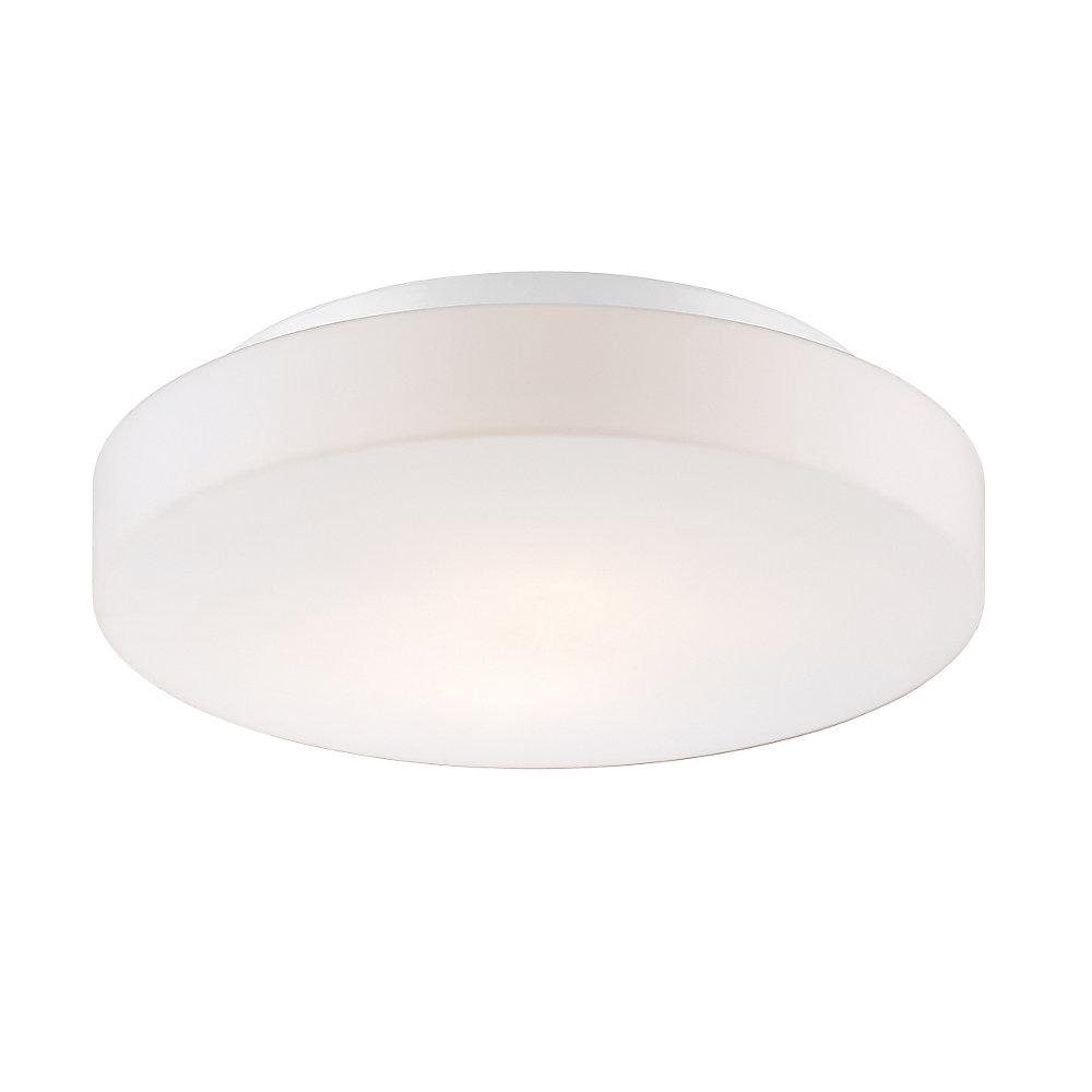 Ramata Collection, 2-Light White Flushmount