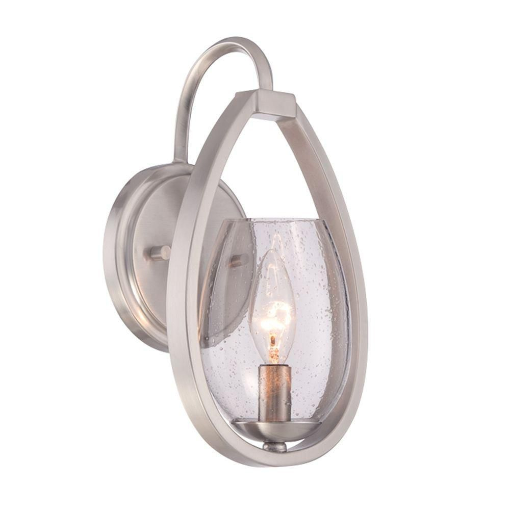 Fantini Collection, 1-Light Satin Nickel Wall Sconce