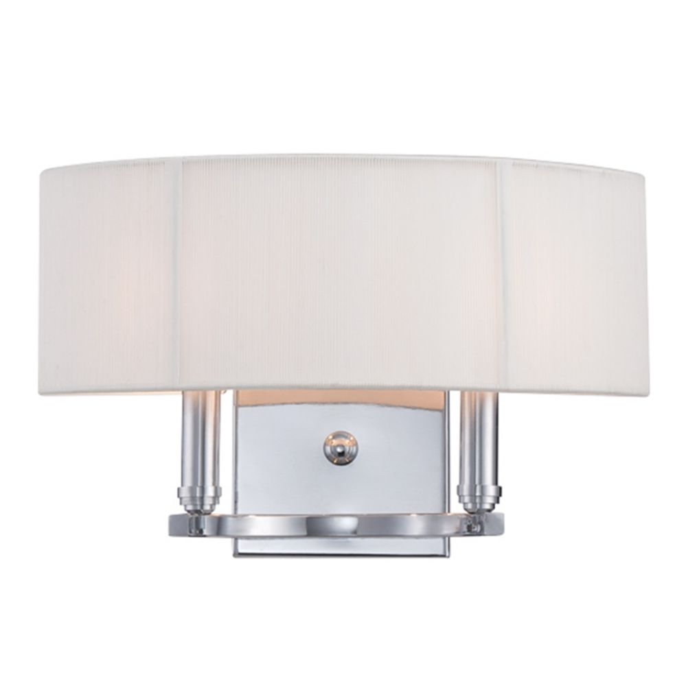 Kennedy Collection, 2-Light Chome Wall Sconce
