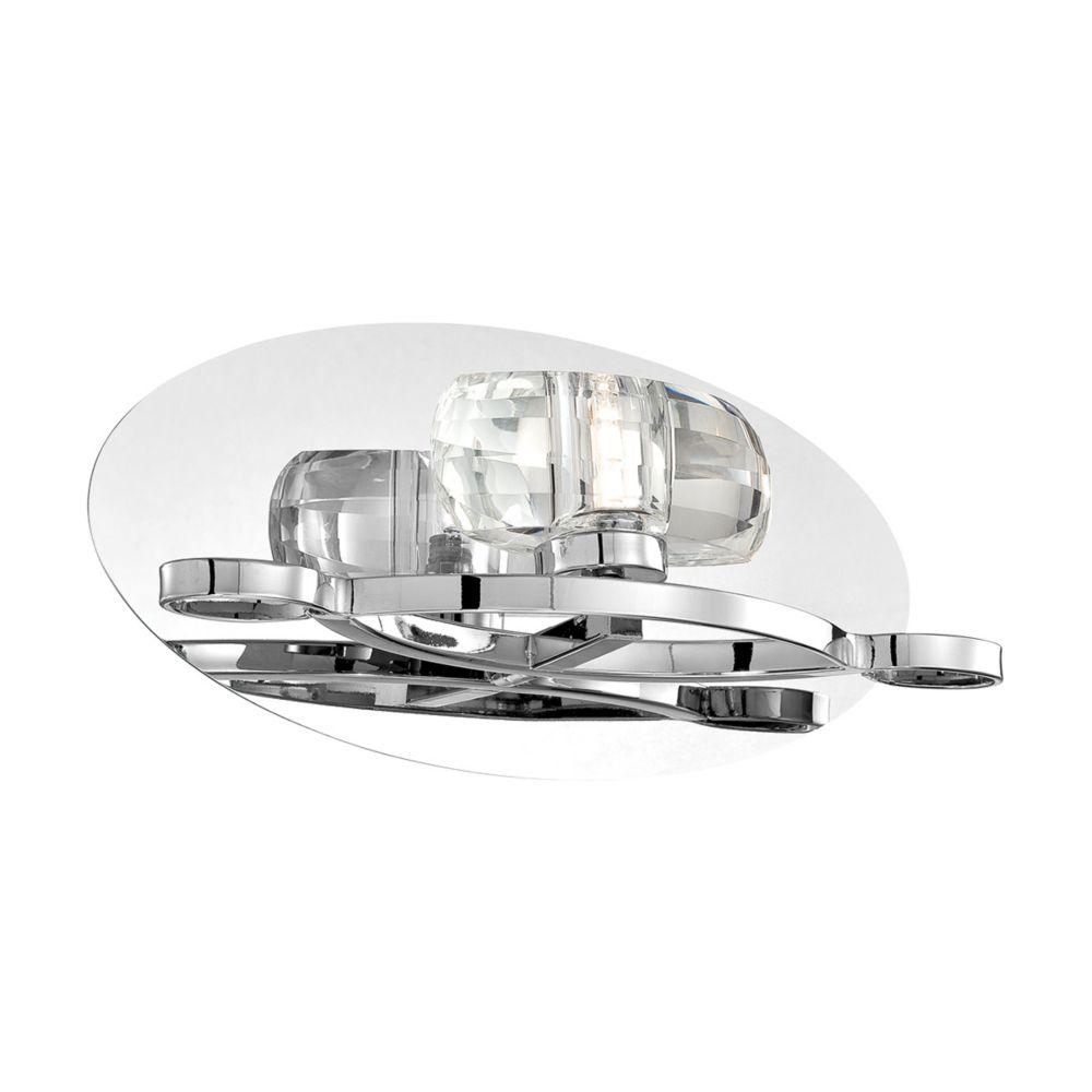 Buca Collection, 1-Light Chrome and Clear Wall Sconce