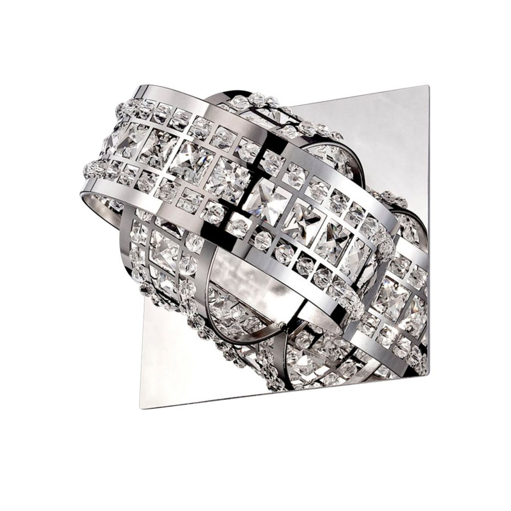 Yorkville Collection, 1-Light Chrome and Clear Wall Sconce