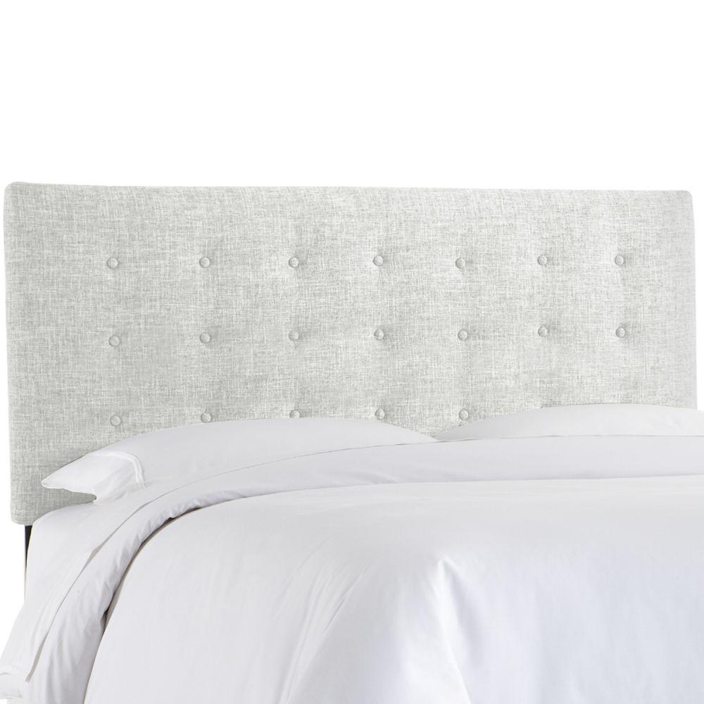 Tête de lit rembourrée reine en zuma blanc