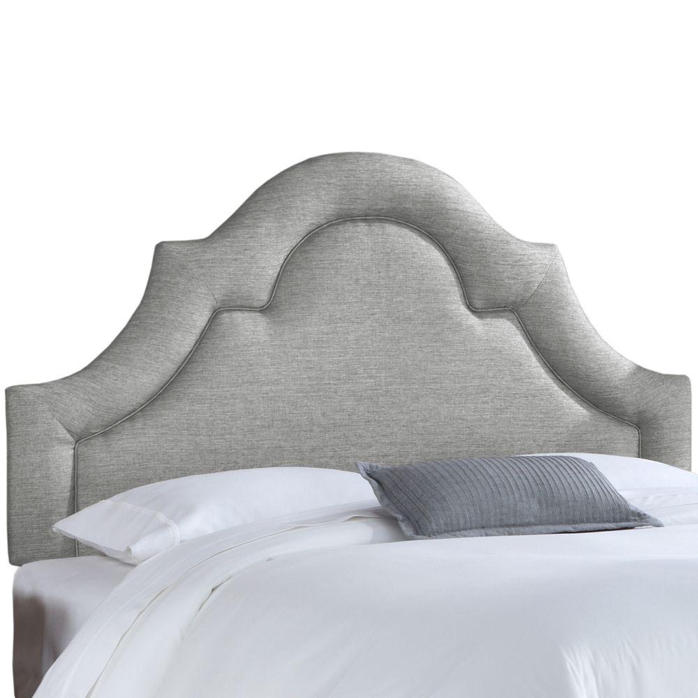 Tête de lit rembourrée jumeau en groupie étain