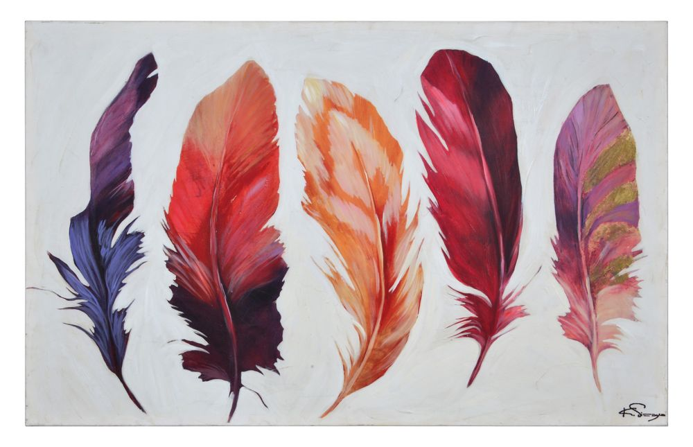 Feather Bliss Canvas Art