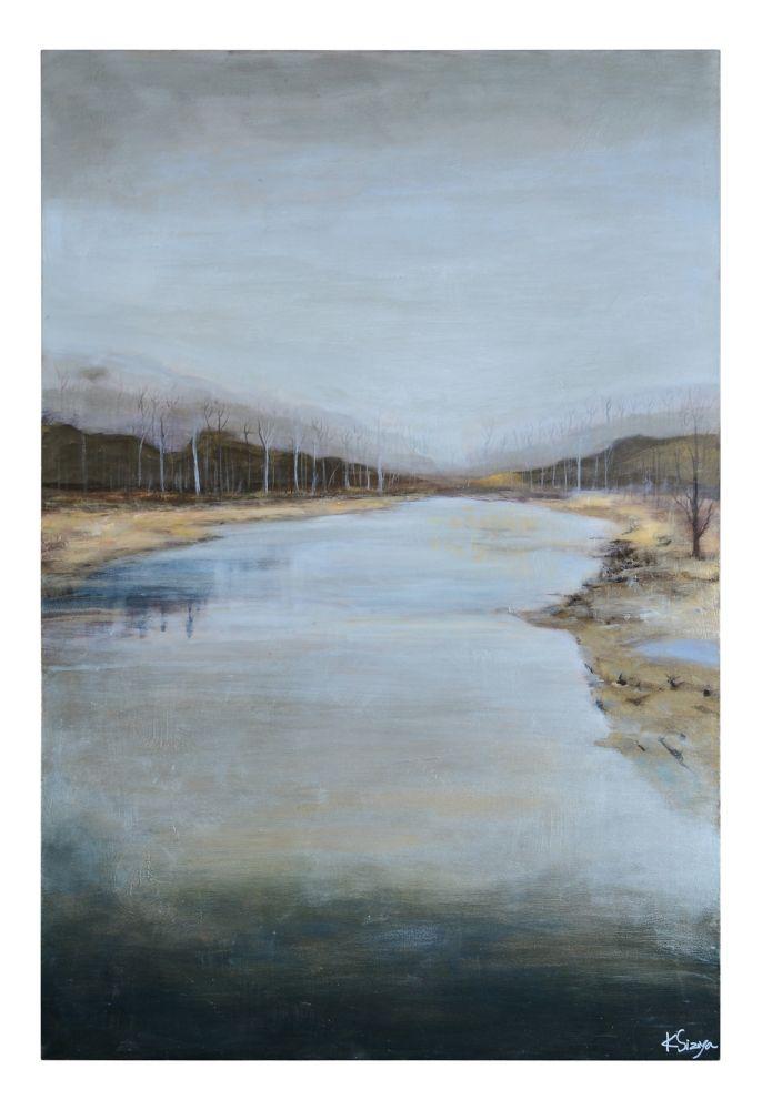 Mountain Stream Canvas Art