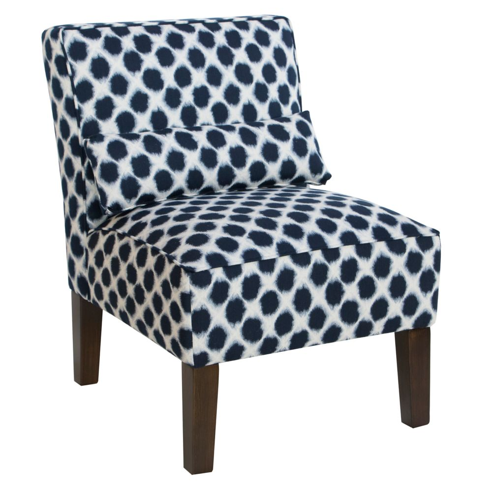 Armless Chair In Shibori Indigo