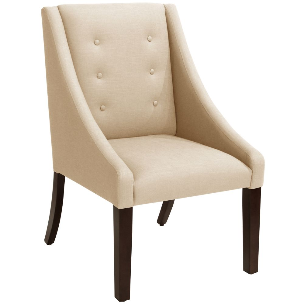 Swoop Dining Chair In Linen Sandstone