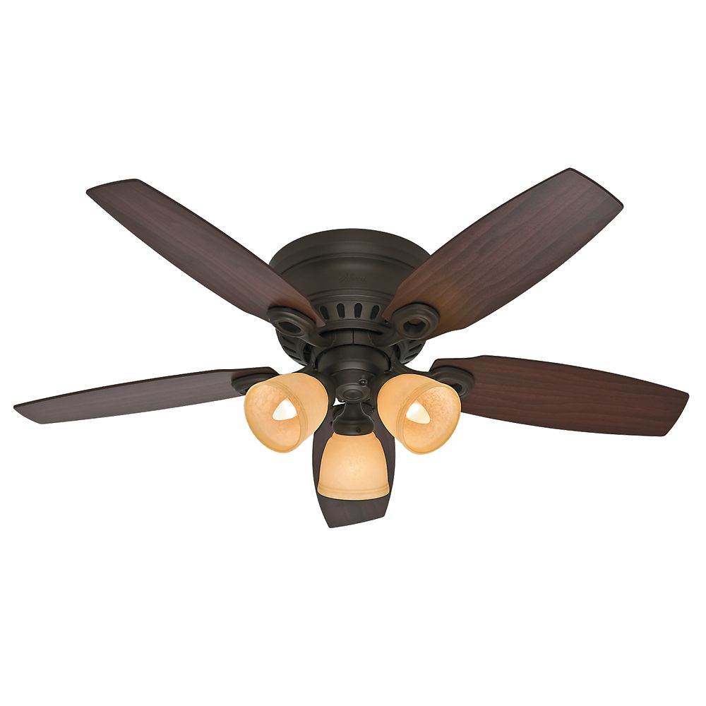 Ceiling fans accessories the home depot canada hunter hatherton 46 inch new bronze indoor ceiling mozeypictures Images