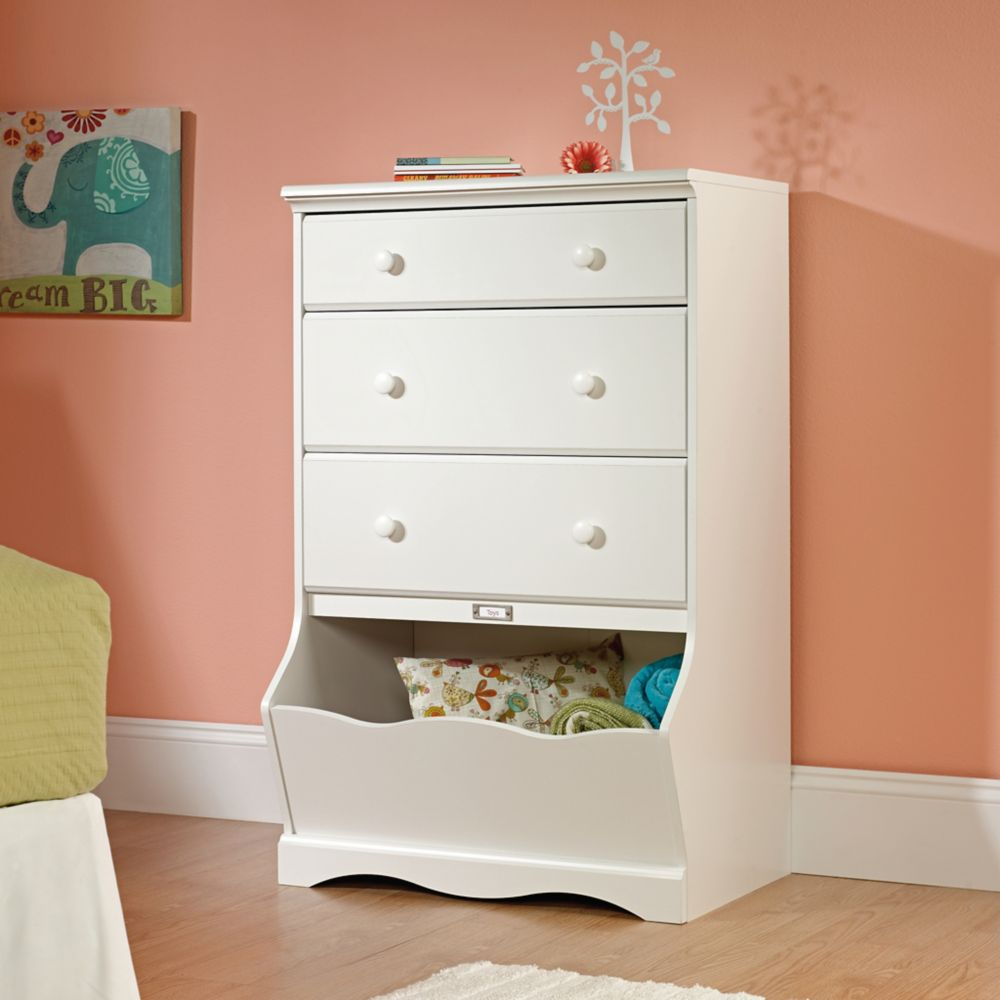 Sauder Pogo 3 Drawer Chest In Soft White The Home Depot Canada