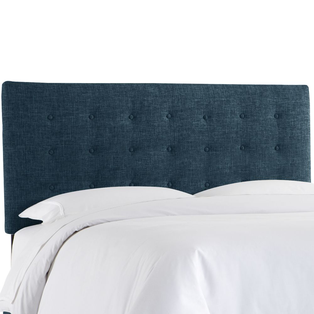Twin Button Headboard In Zuma Navy