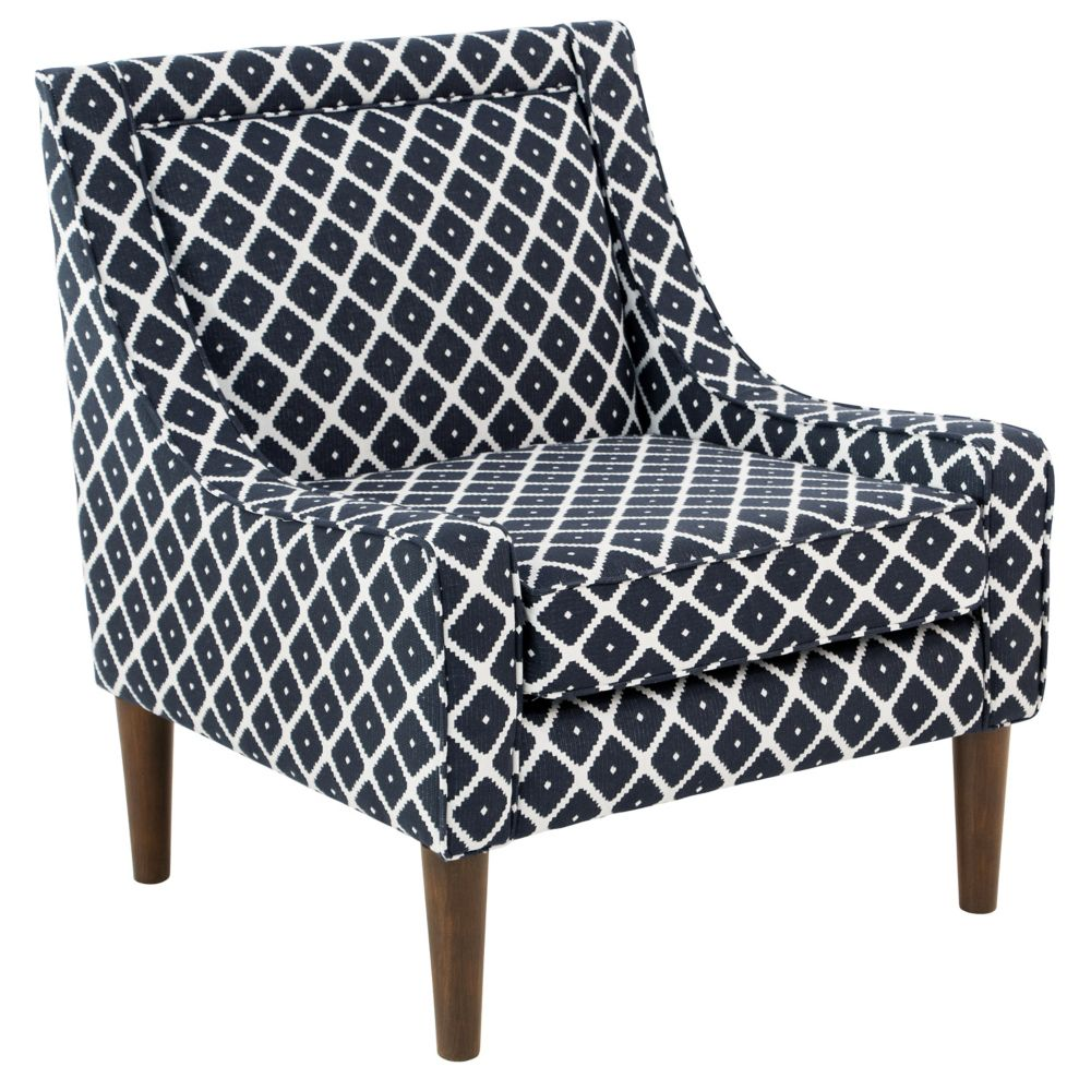 Mid Century Swoop Arm Chair In Souk Admiral