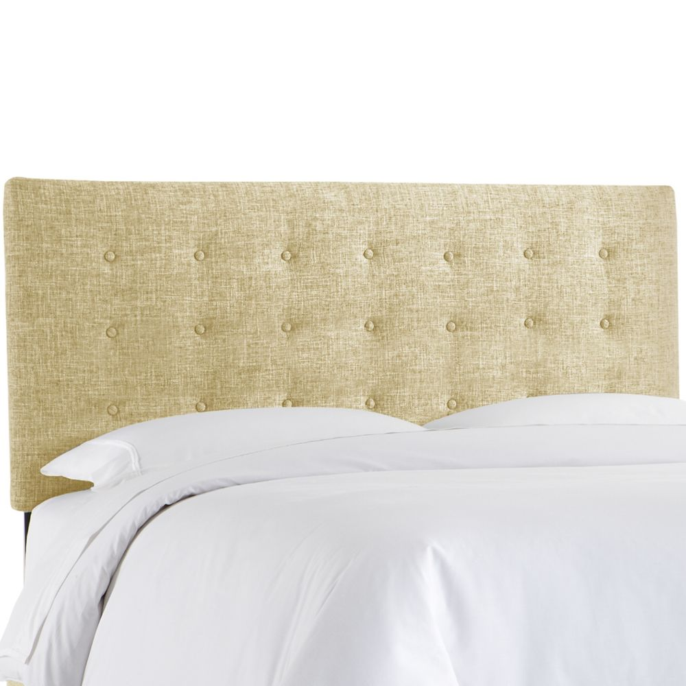Queen Button Headboard In Zuma Rawhide
