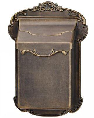 Victorian Aluminum Mailbox, Antique Bronze