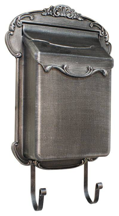 Victorian Aluminum Mailbox, Swedish Silver