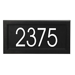 PRO-DF Modern Rectangular Address Plaque, Black
