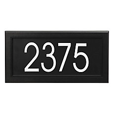 Modern Rectangular Address Plaque, Black